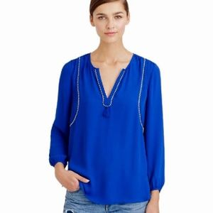 J. Crew Blue Pullover Blouse